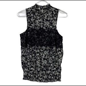 Maurice's Floral Black and White Tank